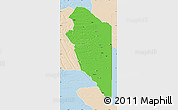 Political Map of Lumbala N'Guimbo, lighten