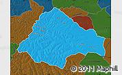 Political Map of Moxico, darken