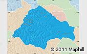 Political Map of Moxico, lighten