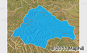 Political Map of Moxico, satellite outside
