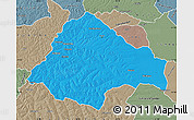 Political Map of Moxico, semi-desaturated