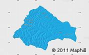 Political Map of Moxico, single color outside