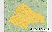 Savanna Style Map of Moxico