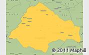 Savanna Style Simple Map of Moxico