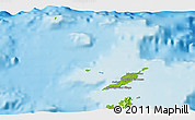 Physical 3D Map of Anguilla