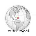 Outline Map of Anguilla
