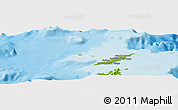 Physical Panoramic Map of Anguilla