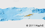 Political Shades Panoramic Map of Anguilla