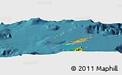 Satellite Panoramic Map of Anguilla