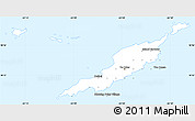 Gray Simple Map of Anguilla