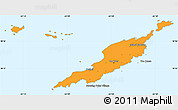Political Simple Map of Anguilla