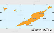 Political Shades Simple Map of Anguilla