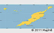 Savanna Style Simple Map of Anguilla