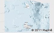 Gray 3D Map of Antigua and Barbuda