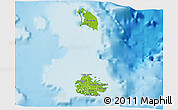 Physical 3D Map of Antigua and Barbuda