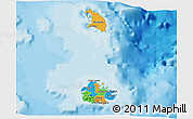 Political 3D Map of Antigua and Barbuda