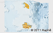 Political Shades 3D Map of Antigua and Barbuda, lighten