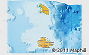 Political Shades 3D Map of Antigua and Barbuda, physical outside