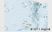 Silver Style 3D Map of Antigua and Barbuda