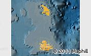 Political Shades Map of Antigua and Barbuda, darken