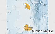 Political Shades Map of Antigua and Barbuda, lighten