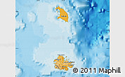 Political Shades Map of Antigua and Barbuda, single color outside