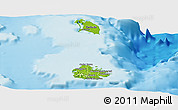 Physical Panoramic Map of Antigua and Barbuda