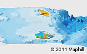 Political Panoramic Map of Antigua and Barbuda