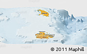 Political Shades Panoramic Map of Antigua and Barbuda, lighten