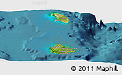 Satellite Panoramic Map of Antigua and Barbuda