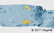 Savanna Style Panoramic Map of Antigua and Barbuda