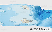 Shaded Relief Panoramic Map of Antigua and Barbuda