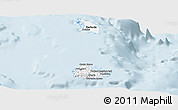 Silver Style Panoramic Map of Antigua and Barbuda