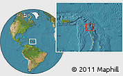 Satellite Location Map of Saint Paul