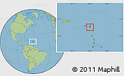 Savanna Style Location Map of Saint Paul