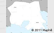 Gray Simple Map of Saint Paul