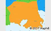 Political Simple Map of Saint Paul