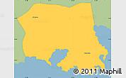 Savanna Style Simple Map of Saint Paul