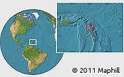 Satellite Location Map of Saint Peter