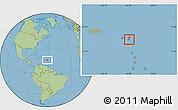 Savanna Style Location Map of Saint Peter