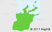 Political Simple Map of Saint Peter, single color outside