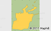 Savanna Style Simple Map of Saint Peter, cropped outside