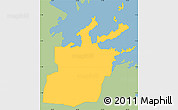 Savanna Style Simple Map of Saint Peter, single color outside