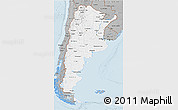 Gray 3D Map of Argentina