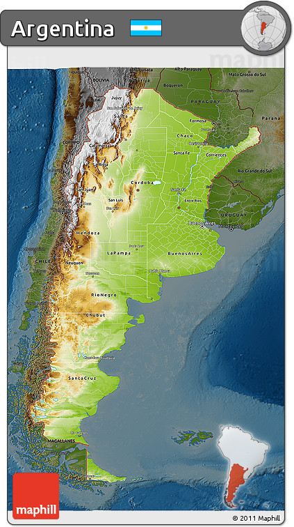 Free Physical D Map Of Argentina Darken - Physical map of argentina