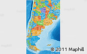 Political 3D Map of Argentina