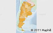 Political Shades 3D Map of Argentina, lighten