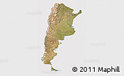 Satellite 3D Map of Argentina, cropped outside