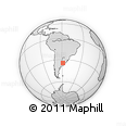 Outline Map of Buenos Aires D.F.