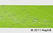 Physical Panoramic Map of Balcarce